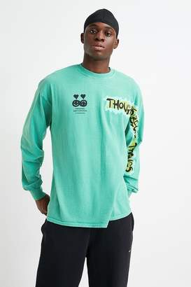 Urban Outfitters Thoughts Teal Long-Sleeve T-Shirt