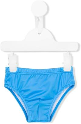 Moschino Kids plain swim trunks