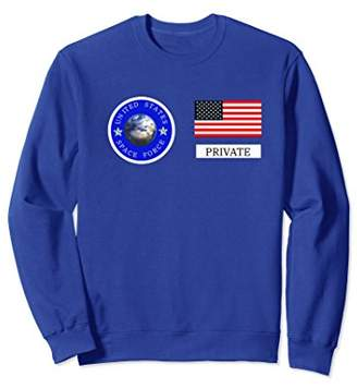 Space Force Halloween Costume Sweatshirt | Private Uniform