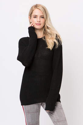 Love Tree Reversable Lace-Up Sweater