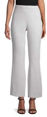 Saks Fifth Avenue Ribbed Flare Cashmere Pants