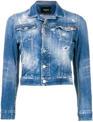 DSQUARED2 stonewashed denim jacket