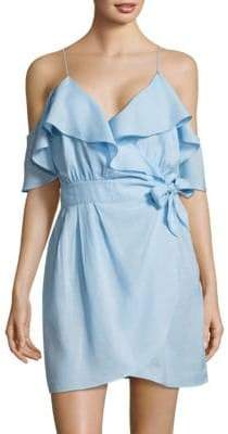 6 Shore Road by Pooja Cold-Shoulder Ruffle Tie Dress