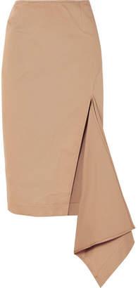 Monse Asymmetric Cotton-blend Gabardine Skirt - Beige