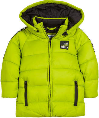 Mayoral Quilted Adventure-Tape Puffer Coat w/ Removable Hood Size 3-7