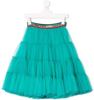 Gucci Kids tiered layered tulle skirt