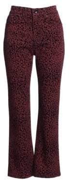 Rag & Bone Hana Cheetah Crop Bootcut Jeans
