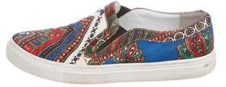 Givenchy Satin Printed Slip-On Sneakers