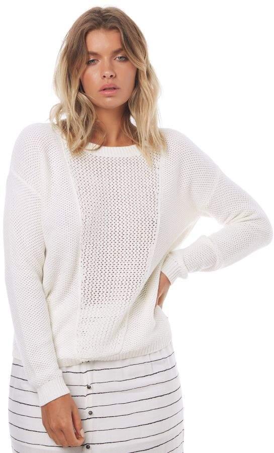 Roxy Womens Deserve Good Things Knit Jumper White