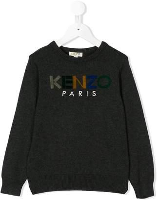 Kenzo logo round neck jumper