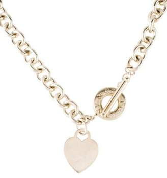 3b90ab29f2328 Heart And Toggle Chain Necklace - ShopStyle