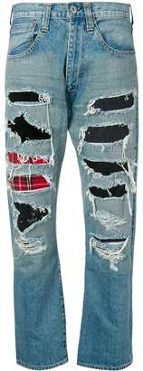 Junya Watanabe patchwork denim jeans