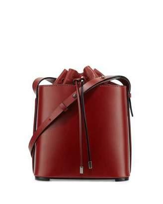 3.1 Phillip Lim Hana Leather Drawstring Bucket Bag, Brick $925 thestylecure.com