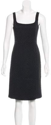 Armani Collezioni Jacquard Knee-Length Dress