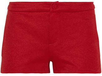 Gucci Ribbed Knit-trimmed Tech-jersey Shorts - Red