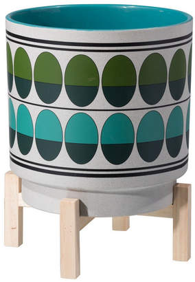 ZUO Retro Lg Planter Green & Teal
