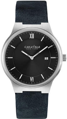 Bulova Caravelle by Caravelle New York Men's Leather Watch