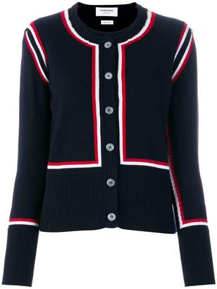 Thom Browne twin set stripe cardigan