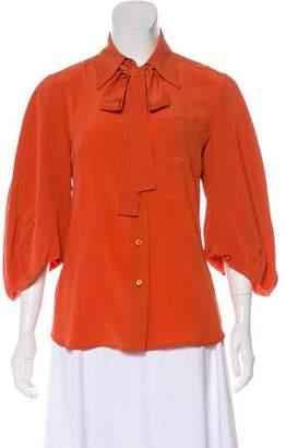 Prada Silk Button-Up Blouse