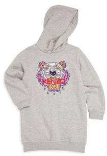 Kenzo Little Girl's& Girl's Hooded Cotton Dress