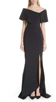 Chiara Boni Asymmetric Neck Mermaid Gown