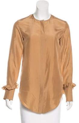 Nina Ricci Silk Long Sleeve Top