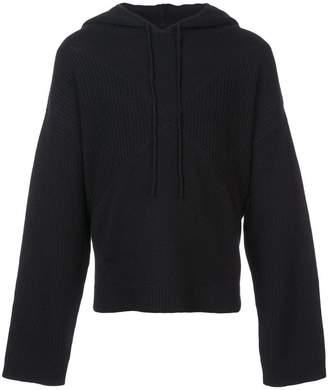 RtA ribbed knit hoodie
