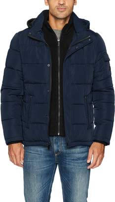 Calvin Klein Men's Alternative Down Puffer Jacket with Bib & Hood