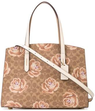 Coach rose print Charlie Carryall bag