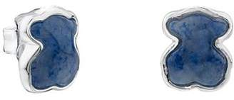 Tous Sterling Silver and Quartz Bear Stud Earrings