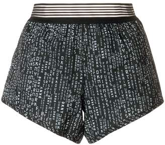 DKNY printed elasticated shorts