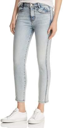 Current/Elliott The 7-Pocket High-Rise Ankle Skinny Stiletto Jeans in Roller
