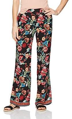 Amy Byer A. Byer Women's Printed Wide Leg Woven Pants