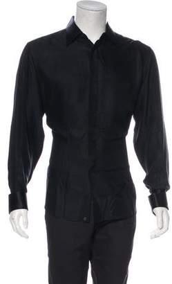 Stefano Ricci Silk French Cuff Tuxedo Shirt