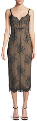 Cinq à Sept Tate V-Neck Sleeveless Lace Dress