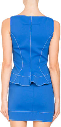 Givenchy Sleeveless Sweetheart-Neck Peplum Mini Cocktail Dress