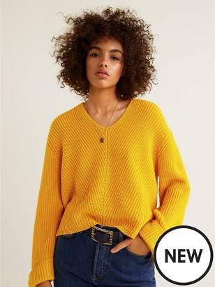 MANGO Knitted Jumper - Yellow
