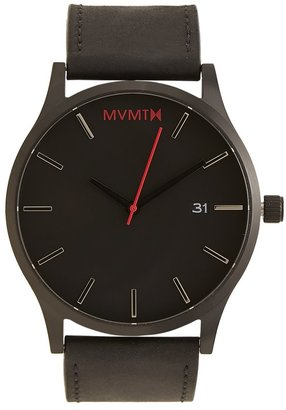 MVMT Black Leather Watch $95 thestylecure.com