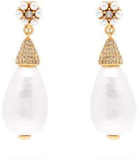 Oscar De La Renta - Faux Pearl Drop Earrings - Womens - Pearl