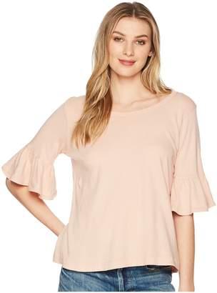 Splendid Ruffle Tee Women's T Shirt