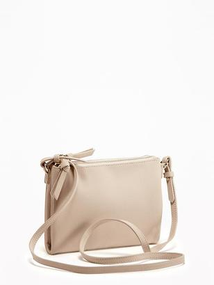 Sueded Double-Zip Crossbody Bag for Women $24.94 thestylecure.com