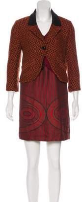 Anna Sui Long Sleeve Mini Dress Orange Long Sleeve Mini Dress