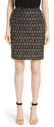 St. John Gilded Eyelash Knit Skirt