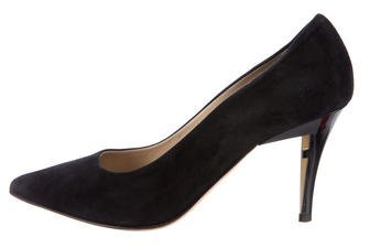 Fendi Suede Pointed-Toe Pumps