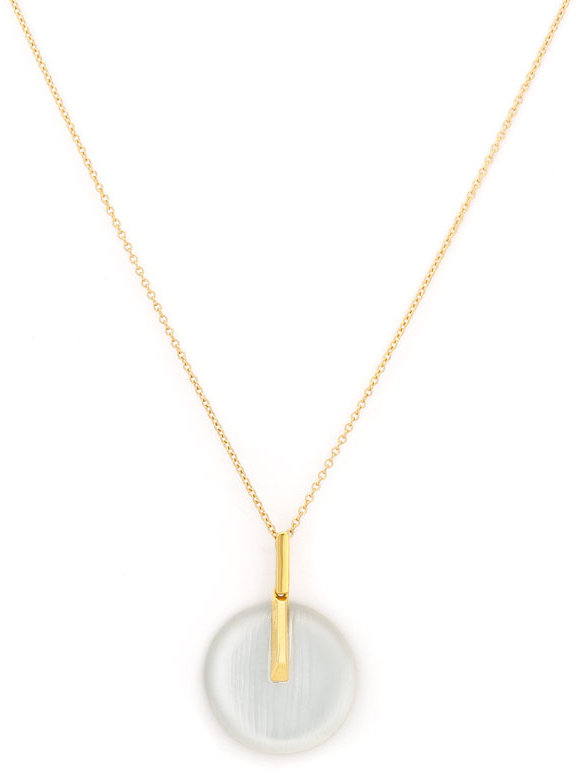 Alexis Bittar Small Circle Pendant Necklace