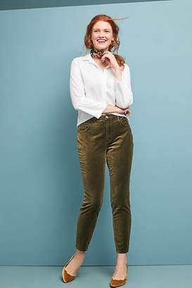 Pilcro and the Letterpress Pilcro Velvet High-Rise Sknny Ankle Jeans