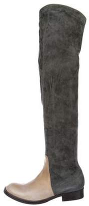 Brunello Cucinelli Suede Over-The-Knee Boots