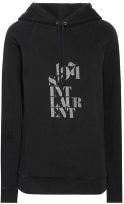 Saint Laurent 1971 printed cotton hoodie
