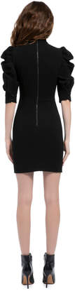 Alice + Olivia BRENNA FITTED PUFF SLEEVE DRESS