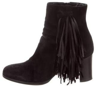 f8fffde56458 Christian Louboutin Black Stacked Heel Women s Boots - ShopStyle